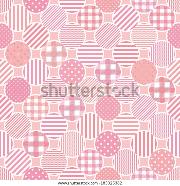 Pink Dots Background Stripe Dots Plaid Stock Vector (Royalty Free