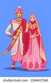 Pink Dress for Pakistani Wedding Couple.