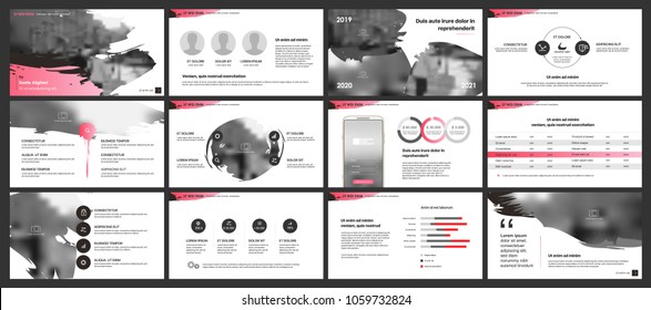Pink elements for infographics on a white background. Presentation templates. Use in presentation, flyer and leaflet, corporate report, marketing, advertising, annual report, banner.