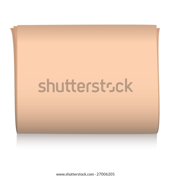 Pink financial paper illustrated with shadow and copy space