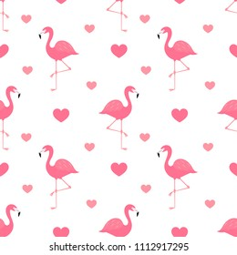 Pink flamingo seamless pattern. Vector illustration
