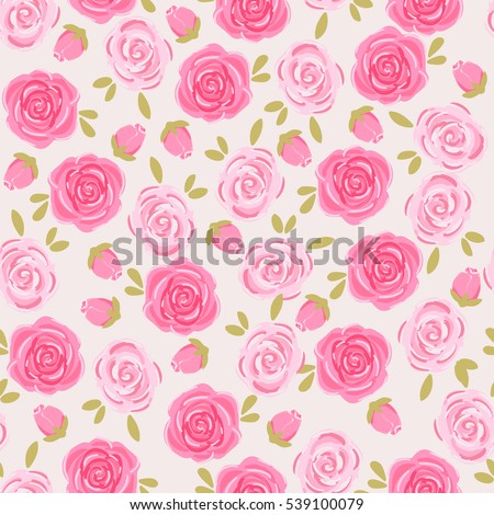 Pink Flowers On Light Background Small Stock Vector Royalty Free