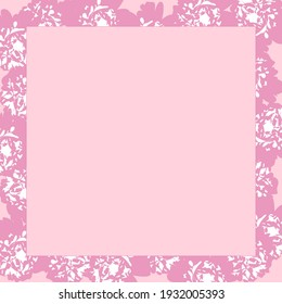 Pink frame with abstract flowers