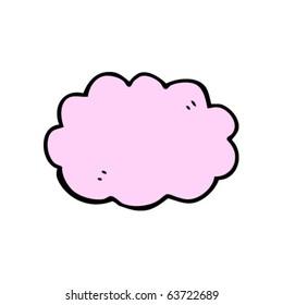 pink gas cloud cartoon