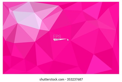 Pink geometric rumpled triangular low poly origami style gradient illustration graphic background. Vector polygonal design for your business.