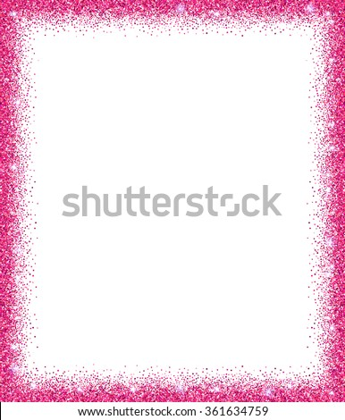 Pink Glitter Frame Sparkles On White Stock Vector (Royalty Free ...
