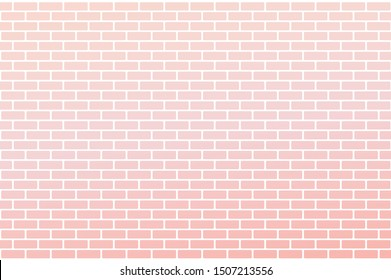 Pink gradient brick wall background, vector Illustration.