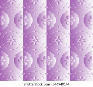 Pink gradient floral seamless pattern. vector illustration. For design, presentations