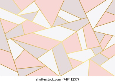 Pink grey geometry background.