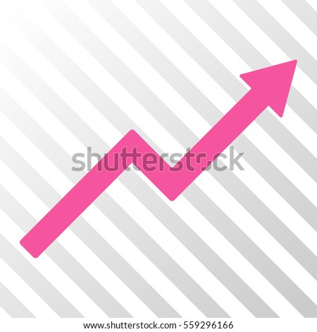 Pink Growth Trend Chart Interface Pictogram Stock Vector Royalty