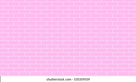 Pink grunge brick wall background backdrop, stock vector graphic illustration