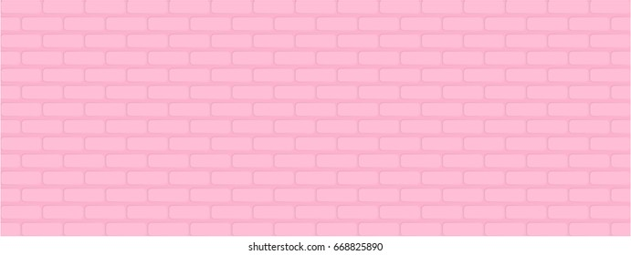 Pink grunge brick wall background. EPS10 vector illustration. Pastel seamless pattern stripes. Abstract vector for fashion design, wallpaper, fabric, backdrop, paper gift, textile etc.
