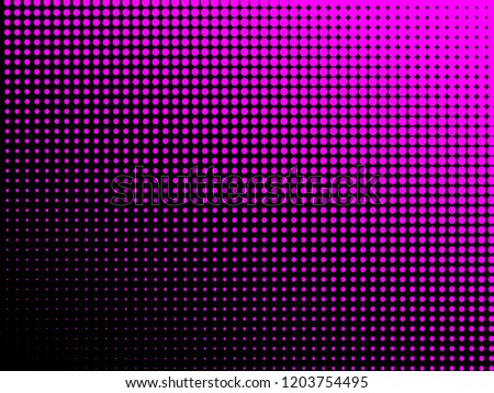 Pink Halftone Dots Colorful Geometric Gradient Stock Vector