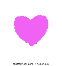Pink hand drawn heart element. Vector background