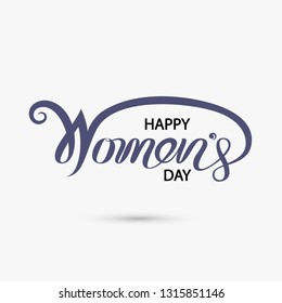 Pink Happy International Women's Day Typographical Design Elements.International Women's day symbol.Vector illustration.Design for international women's day concept.