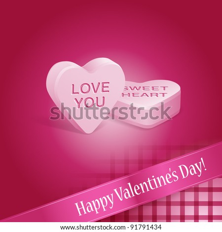 Pink Happy Valentines Day Candy Hearts Stock Vector Royalty Free