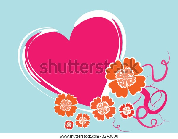 pink heart background flower
