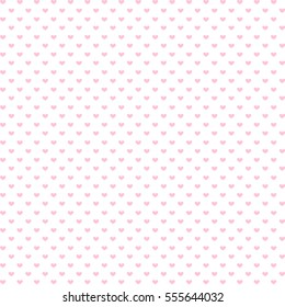 Pink hearts background for valentine day, vector illustration.