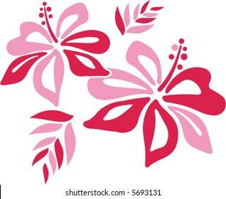 Hibiscus Clip Art Images Stock Photos Vectors Shutterstock