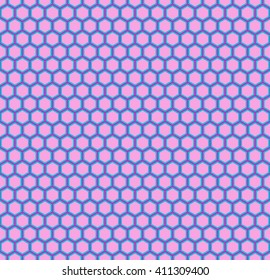 Pink Honeycomb seamless pattern