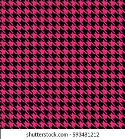Pink Houndstooth Seamless Pattern Design