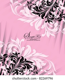 Pink And Black Invitation Images Stock Photos Vectors Shutterstock