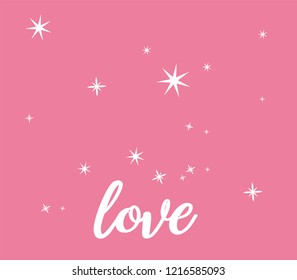 pink invitation template with sparkles and love letter for events invitation new year