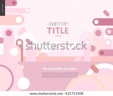 pink landscape template design mockup vector stock vector royalty