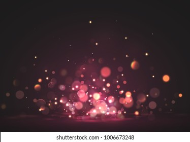 Pink lights. Background of bright glow bokeh.