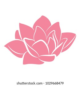 pink lotus flower vector icon logo