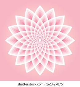 Pink lotus pattern vector illustration