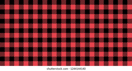 Pink Lumberjack Seamless Pattern Background