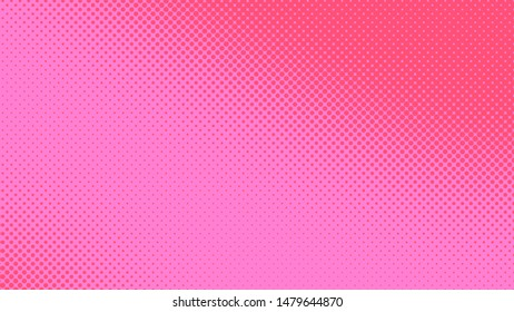Pink and magenta dotted background in pop art retro style, vector illustration