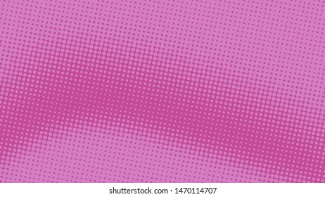 Pink and magenta retro comic pop art background with haftone dots design. Vector clear template for banner or comic book design, etc
