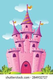 Pink magic castle