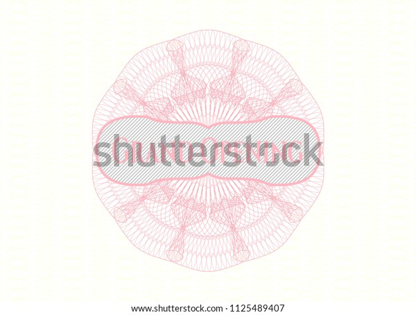 Pink money style emblem or rosette with text Grand Opening inside