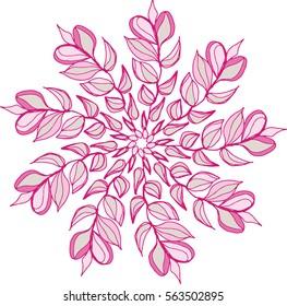 Pink Nature Mandala