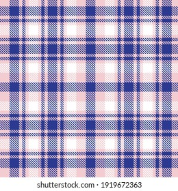 Pink and navy Plaid, checkered, tartan seamless pattern suitable for fashion textiles and graphics