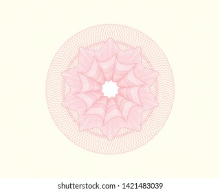 Pink passport rosette. Vector Illustration. Detailed.