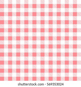 Pink patterns tablecloths stylish a illustration design. Geometrical traditional ornament for fashion textile, cloth, backgrounds. Vector illustration.
