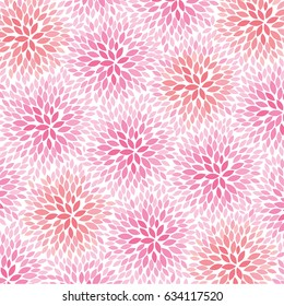 Pink and Peach Flowers - abstract background pattern - vector eps10