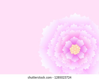 pink peony macro abstract flover vector background eps10