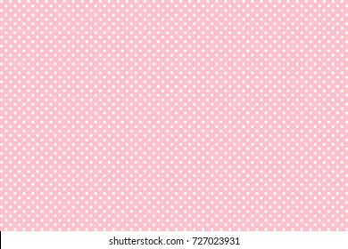 Pink Polka Dot seamless pattern. For plaid, tablecloths, clothes, shirts, dresses, paper, bedding, blankets, quilts and other textile products. Vector illustration.