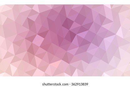 Pink polygonal illustration, which consist of triangles. Geometric background in Origami style with gradient. Triangular design for your business in vector.