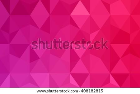 vetor stock de pink polygonal illustration which consist triangles