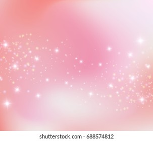 Pink princess sparkling background, vector illustration. Purple pink love fairy tale wallpaper concept. Vector princess pink background.