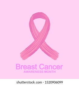 Pink ribbon.Breast  Cancer.Breast  Cancer vector. Breast cancer awareness month in october background