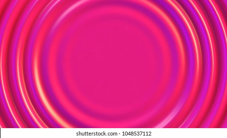 Pink rippled paint vector background. Liquid pink background of enamel or lacquer with space for text in center.