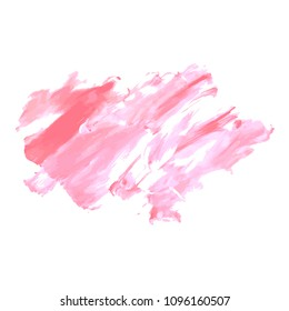 Pink, rose, magenta pastel grunge marble watercolor dry brush strokes texture hand paint on white background. Abstract acrylic pours, fluid art with stains, splashes. Oil frame, place for text, logo.