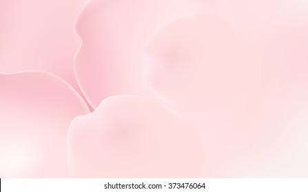 pink rose petals in soft color and blur style vector background